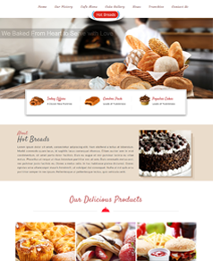 Responsive website design for Hot Breads
