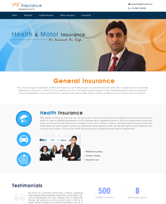 Corporate Website Design for PK Insurance
